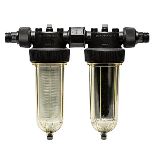Prefiltration and whole house filtration
